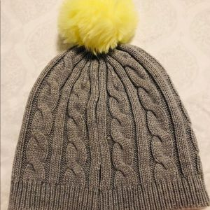 NWOT Old Navy cable knit cap with fluffy ball tip